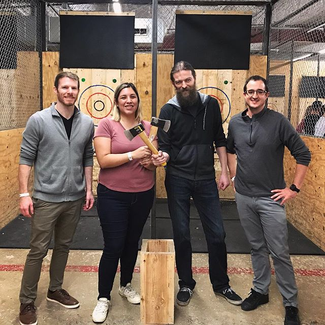 The Ghost Inspector team goes Axe Throwing in Austin, Texas