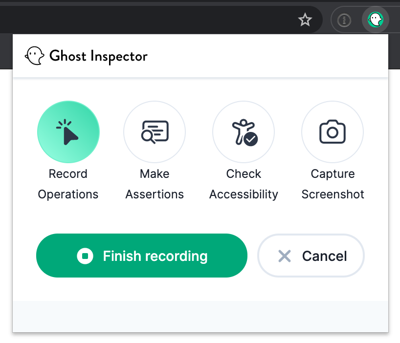 Ghost Inspector browser extension
