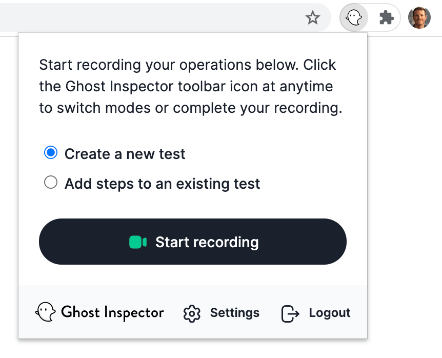 Test Recorder for Chrome & Firefox - Ghost Inspector
