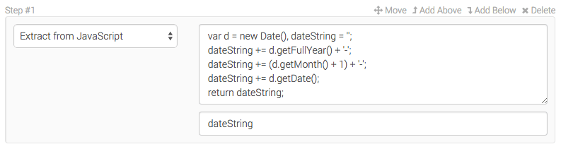 Storing a date into a variable