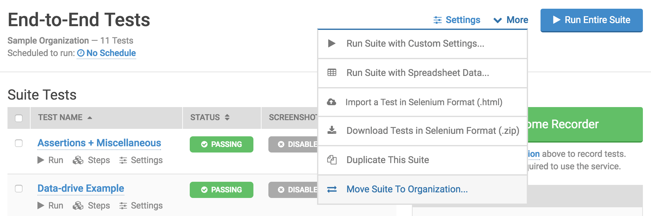 Move suite to another organization