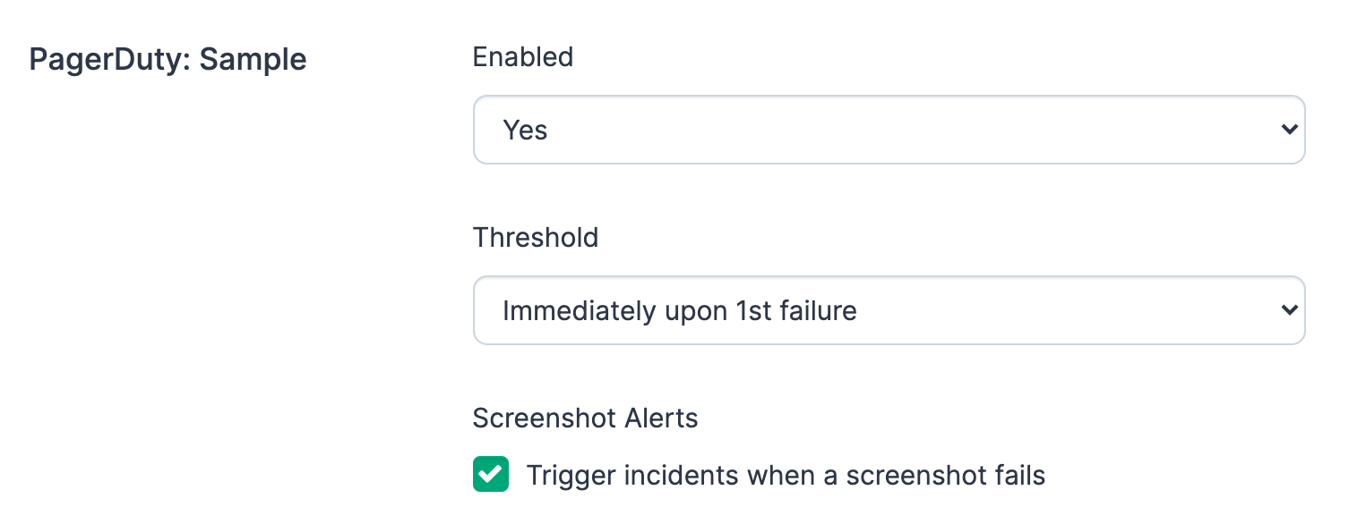 Ghost Inspector Notifications: PagerDuty