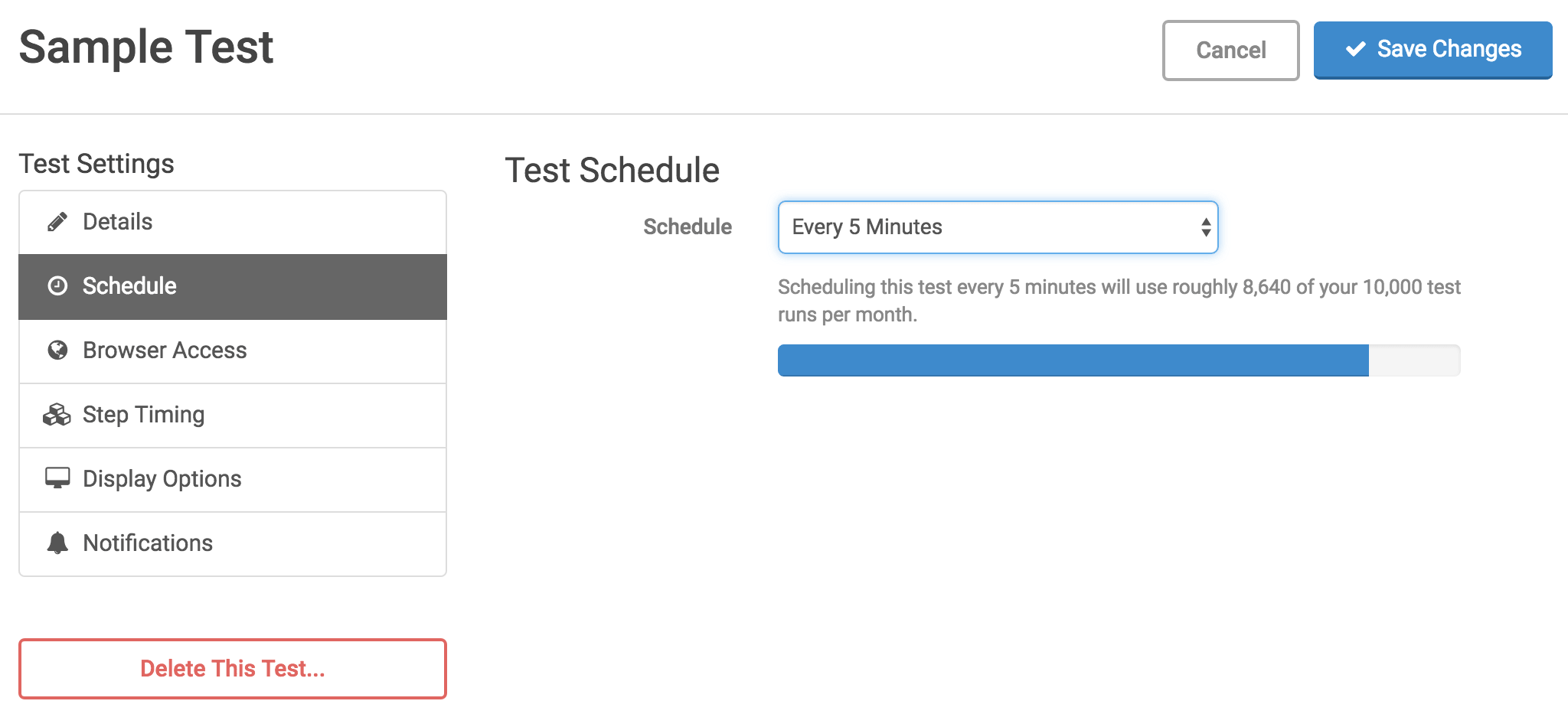 Scheduling Test Runs - Ghost Inspector